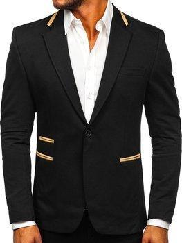 Черный элегантный мужской пиджак Bolf 9400