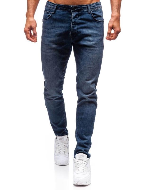Джинсы мужские slim fit темно-синие Bolf 7165