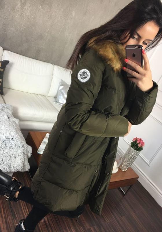 Женская зимняя куртка хаки Bolf 8063