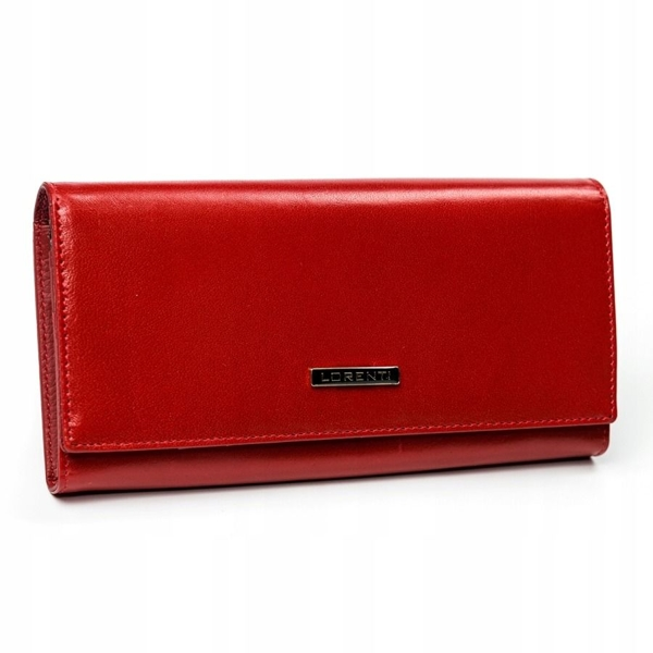 Женский кожаный кошелек красный 2902