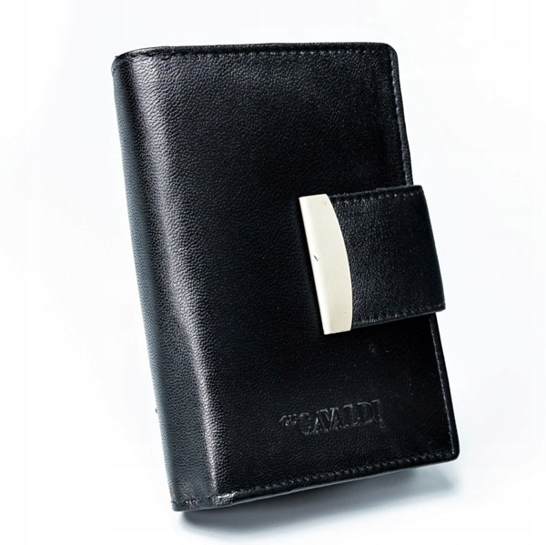 Женский кожаный кошелек черный 2778