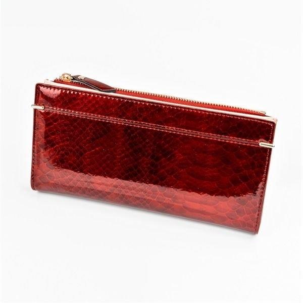 Женский кошелек с эко кожи красный 1049