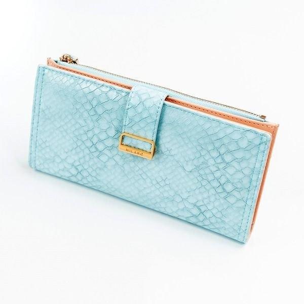 Женский кошелек с эко кожи синий 1040
