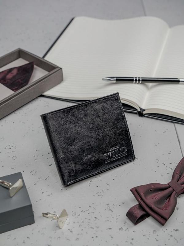 Кошелек мужской кожаный черный 3190