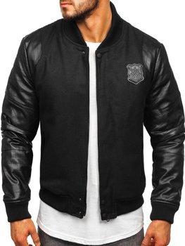 Куртка мужская демисезонная черная Bolf 3324