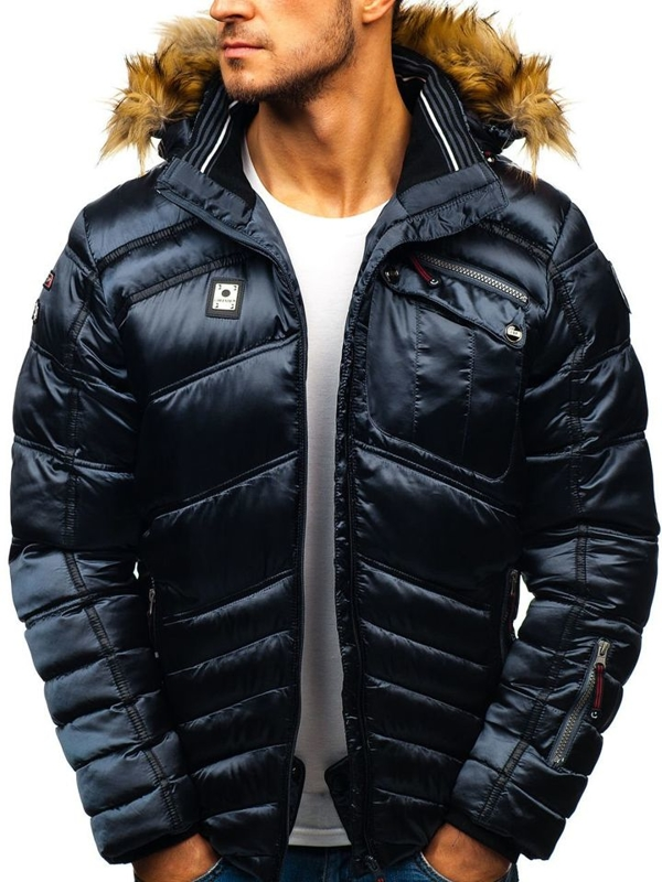 Мужская зимняя куртка лыжная графитовая Bolf K30