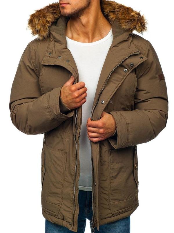 Мужская зимняя куртка парка хаки Bolf 40131