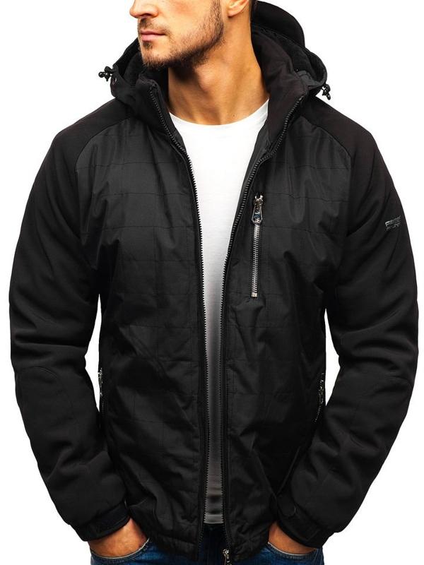 Мужская зимняя куртка черная Bolf 5681