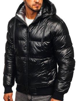 Мужская зимняя куртка черная Bolf 92556