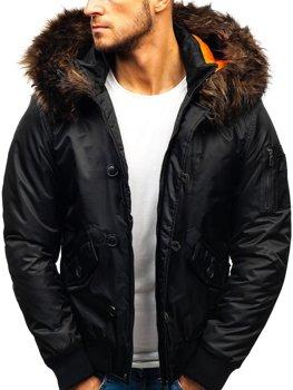 Мужская зимняя куртка черная Bolf 99123