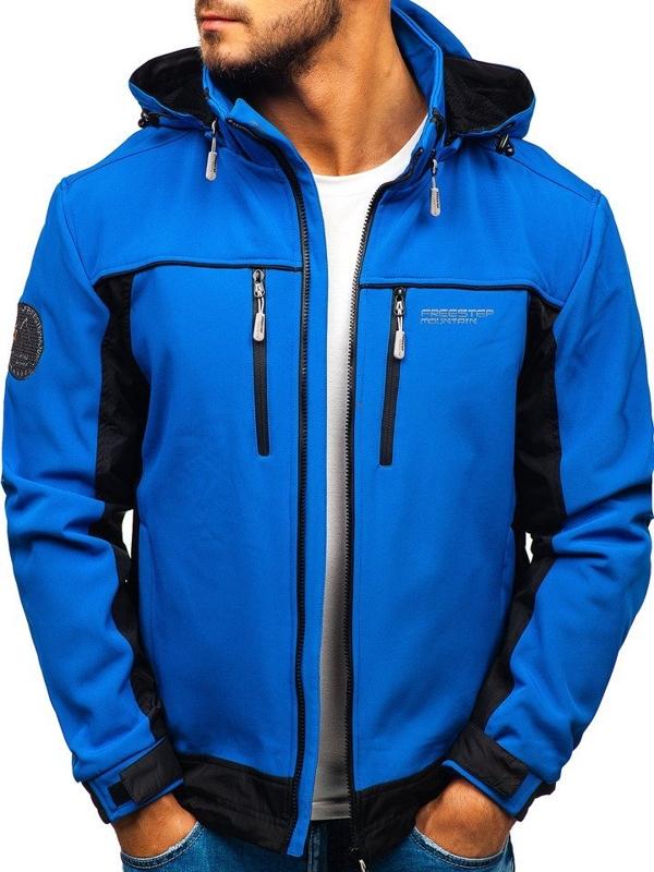 Мужская куртка софтшелл синяя Bolf 5527