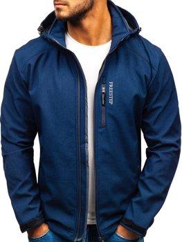 Мужская куртка софтшелл темно-синяя Bolf AB151