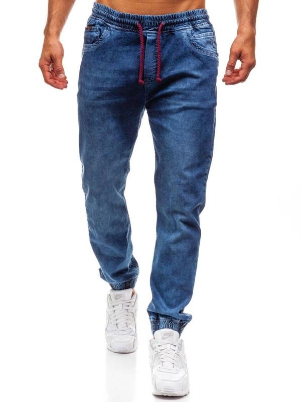 Мужские джинсовые брюки джоггеры синие Bolf 723
