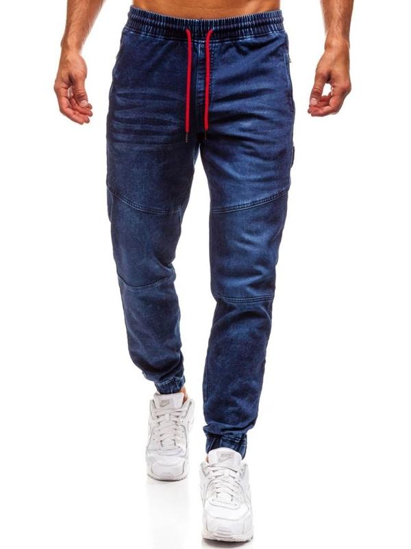 Мужские джинсовые брюки джоггеры темно-синие Bolf Y267