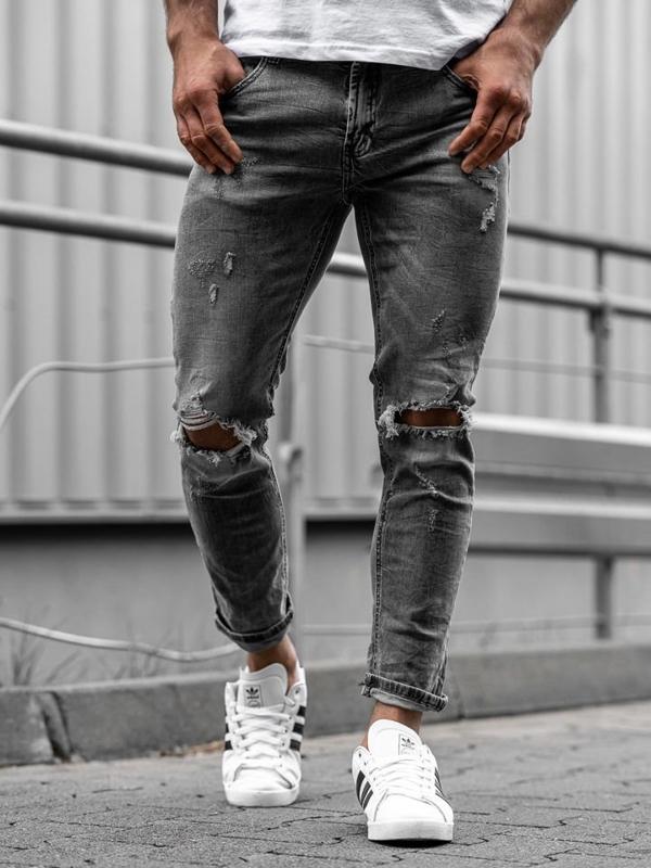 Мужские джинсовые брюки серые Bolf KA891