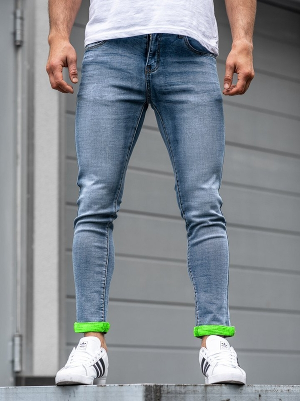 Мужские джинсовые брюки синие Bolf KX162