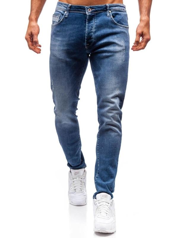 Мужские джинсовые брюки темно-синие Bolf 7161