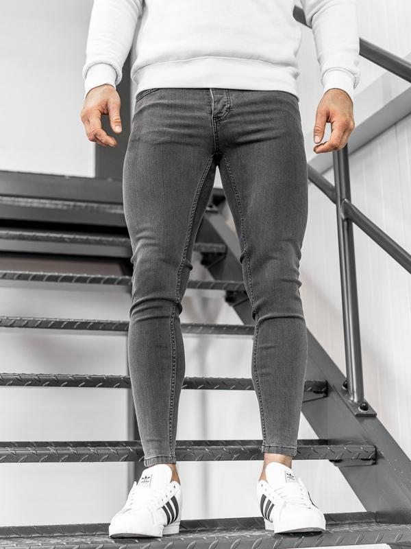 Мужские джинсовые брюки черные Bolf 1088