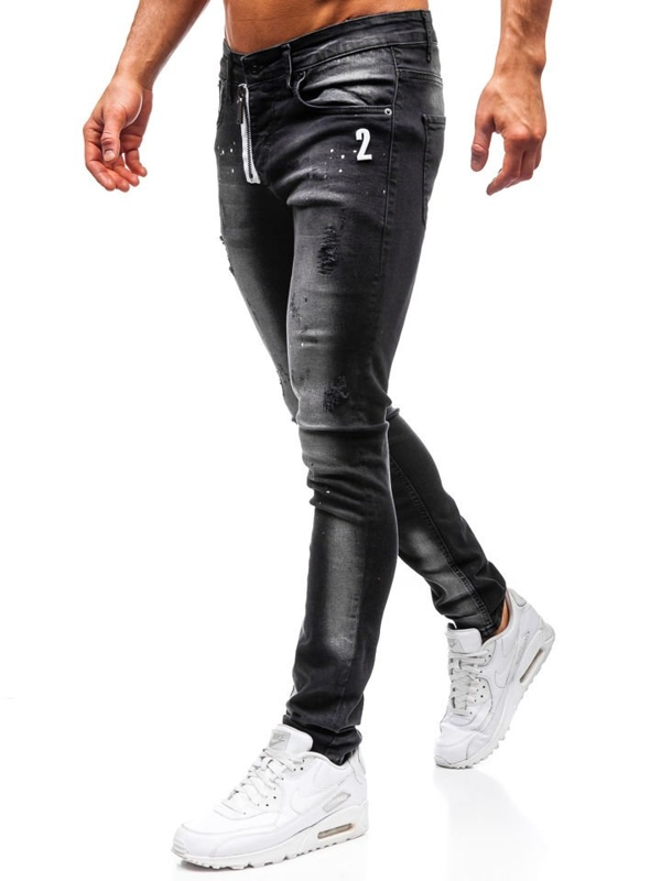 Мужские джинсовые брюки черные Bolf 9243