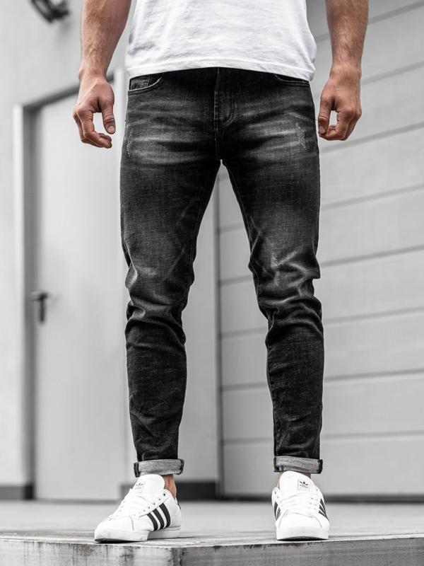 Мужские джинсовые брюки черные Bolf KX169