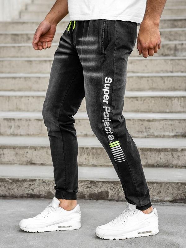 Мужские джинсовые джоггеры черные Bolf KK1100