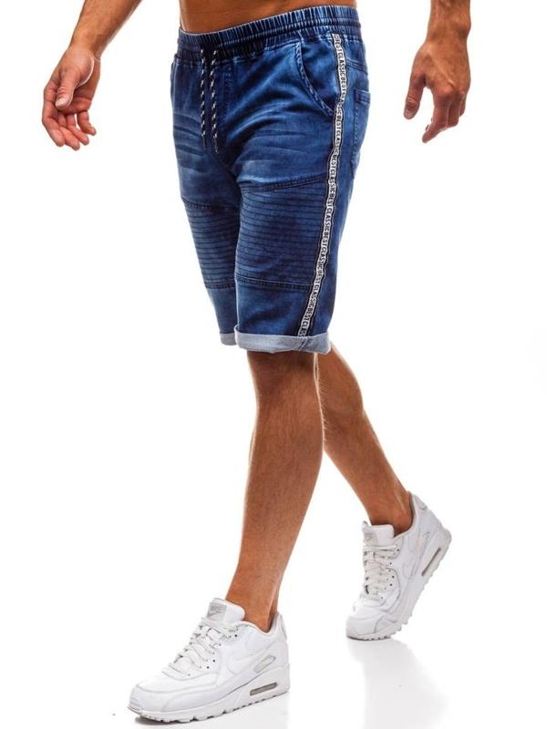 Мужские джинсовые шорты темно-синие Bolf HY190