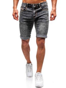 Мужские джинсовые шорты черные Bolf 7796