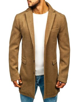 Мужское зимнее пальто кэмел Bolf 1047A