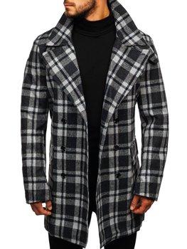 Мужское зимнее пальто серое Bolf 1115