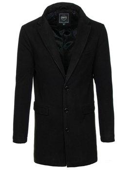 Мужское зимнее пальто черное Bolf 1047B