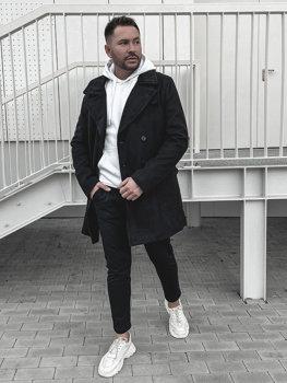 Мужское зимнее пальто черное Bolf 1048B