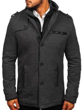 Мужское пальто серый Bolf 1909