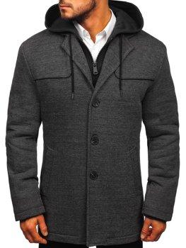 Мужское пальто серый Bolf 1978