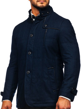 Мужское пальто темно-синие Bolf EX66A