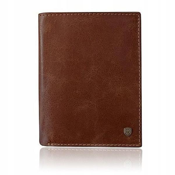 Мужской кожаный кошелек коричневый 921