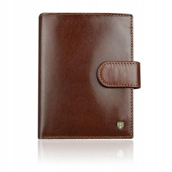 Мужской кожаный кошелек коричневый 925