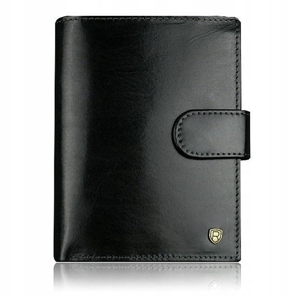 Мужской кожаный кошелек черный 915
