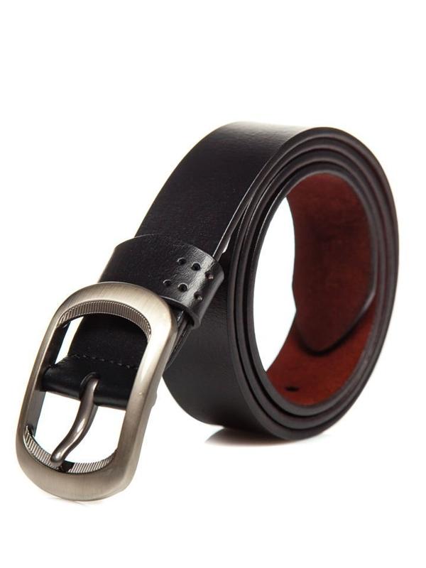 Мужской кожаный ремень черный Bolf P012