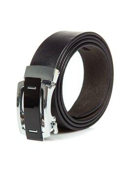 Мужской кожаный ремень черный Bolf P013