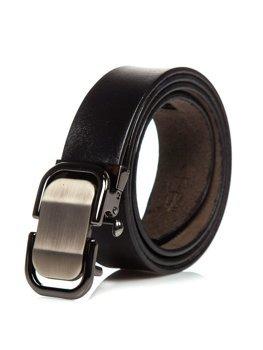 Мужской кожаный ремень черный Bolf P015