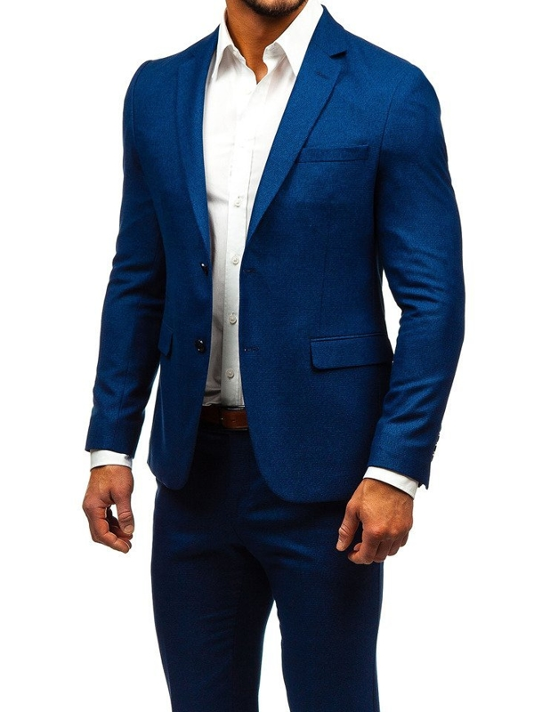 Мужской костюм темно-синий Bolf 171000-1