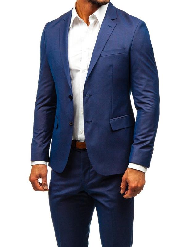 Мужской костюм темно-синий Bolf 19200