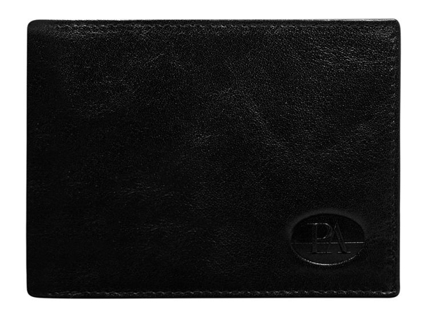 Мужской кошелек кожаный черный 102