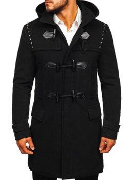 Пальто мужское зимнее черное Bolf 88870