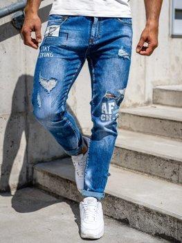 Темно-синие мужские джинсовые брюки Slim fit Bolf 85006s0
