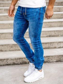 Темно-синие мужские джинсовые джоггеры Bolf KA1555