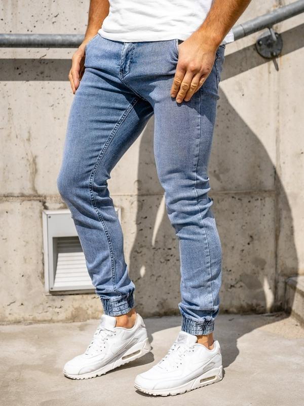 Темно-синие мужские джинсовые джоггеры Bolf KA1637