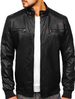 Черная мужская куртка косуха Bolf 2001