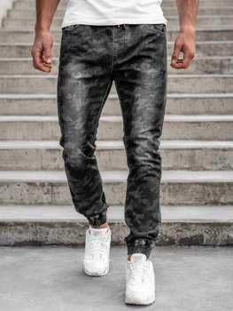 Черные мужские камуфляжные брюки джоггеры Bolf RB9486DT