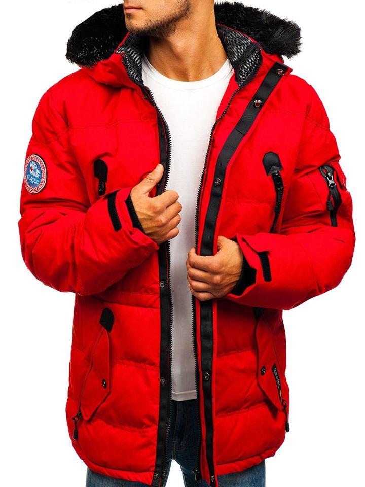 f7fda7e6 Лыжная мужская зимняя куртка красная Bolf 5423 КРАСНЫЙ